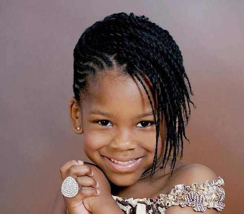 African American little girl braided hairstyles with side