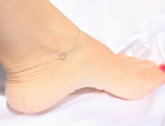 beads gold chain dangle anklet delicate sohocraft bracelet dainty pin the leg with by made ankle