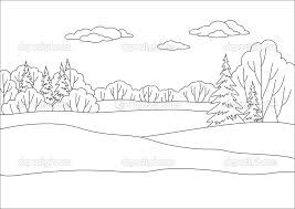Forest Background Coloring Page Background Drawing Forest Coloring Book Coloring Pages