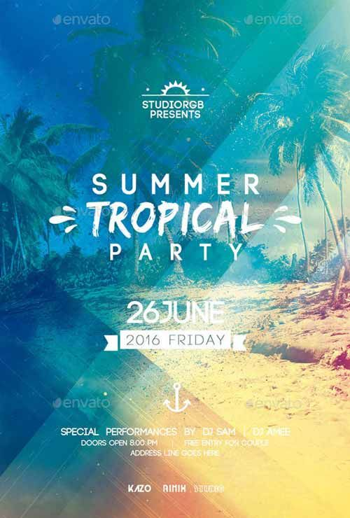 Summer Party Flyer Flyer Template  Design    Party