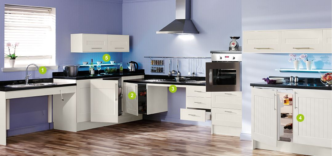 Accessible Kitchen Design Accessible Kitchens Wheelchair Users  Housing Kitchens