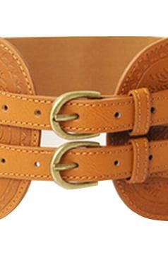 Additives | Spot Pop Fashion Double Pin Buckle Embossed Belt