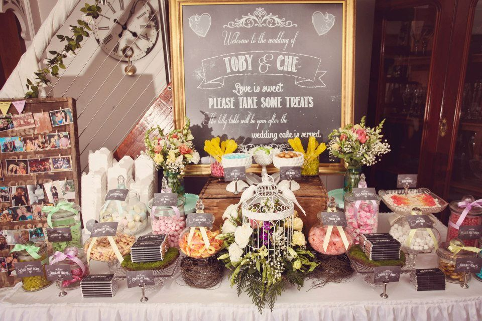 Vintage Wedding Centerpieces Without Flowers Table