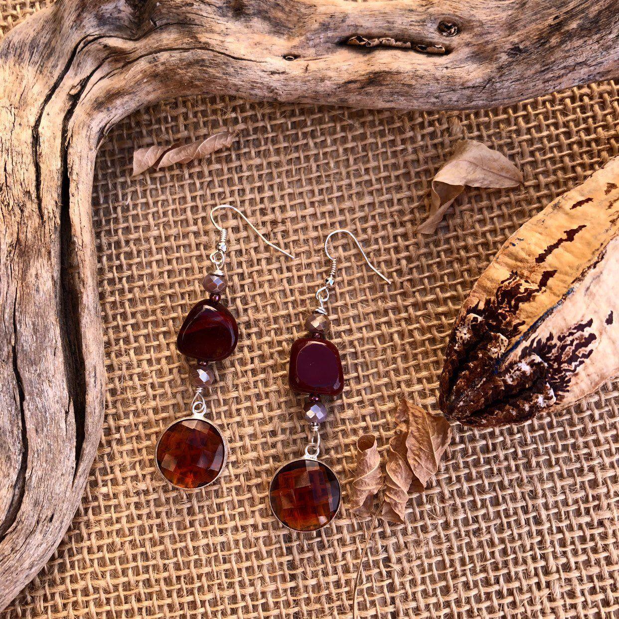f385a12db473 Pendientes de mookaita y cristal