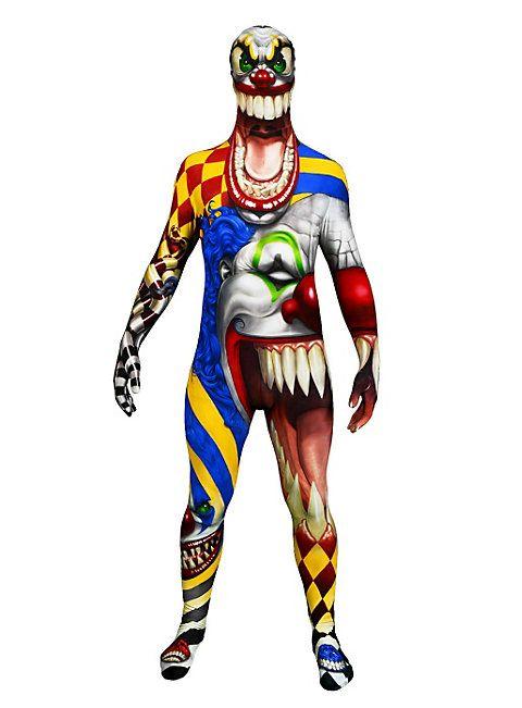 Der Clown Morphsuit Ganzkörperkostüm #halloween #costume #morphuit #horrorclown #men