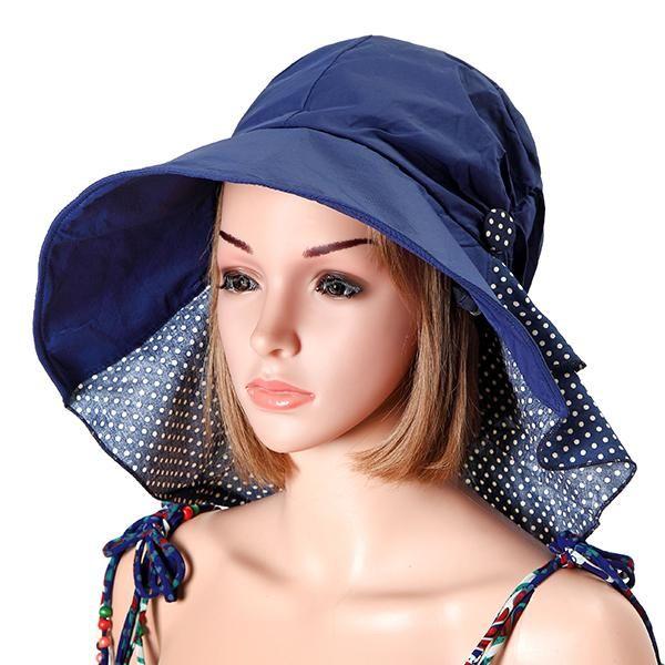 28cf6a01aec96 BangGood -  Eachine1 Women Summer Foldable Sun Hat Anti-uv Beach ...
