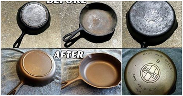 How To Clean And Season Old Rusty Cast Iron Skillets Find Fun Art Projects To Do At Home And Arts A Diy Cleaning Products Cleaning Hacks Seasoning Cast Iron