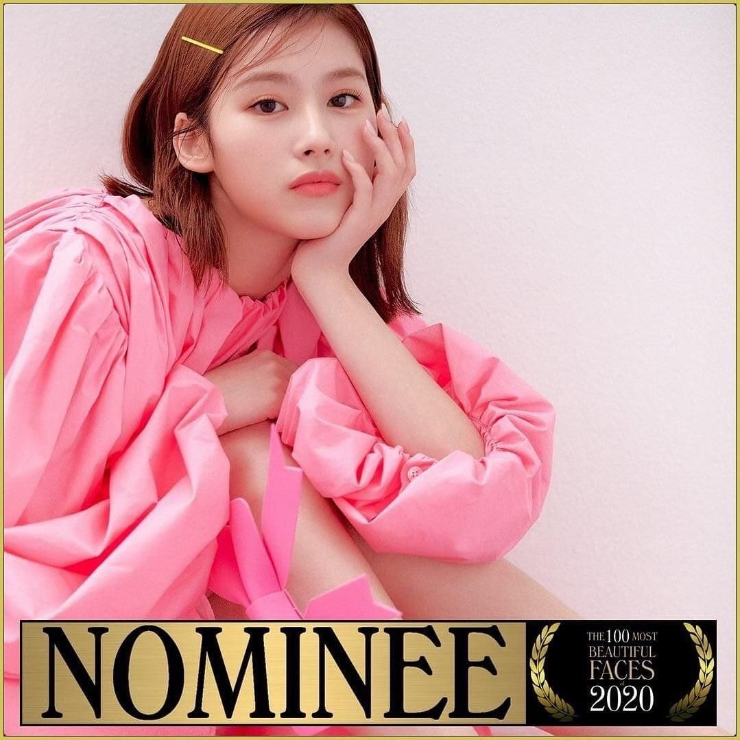 Sana Is Nominated For 100 Most Beautiful Faces Of 2020 Most Beautiful Faces Beautiful Face Face
