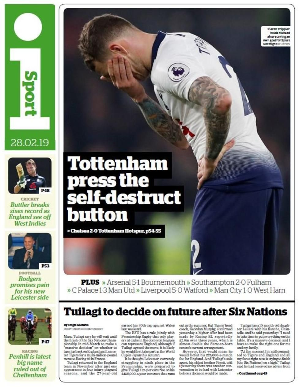 Thursday's gossip column Tottenham hotspur football