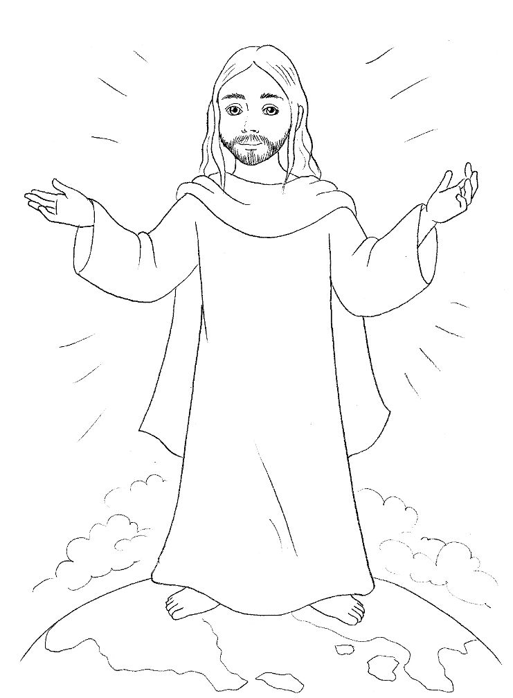 Jesus Christ Coloring Pages | Bible crafts, Christmas colors and ...