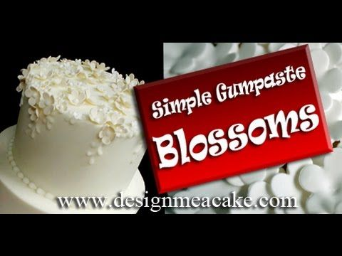 ~How to Make Easy Flower Blossoms in Gumpaste~
