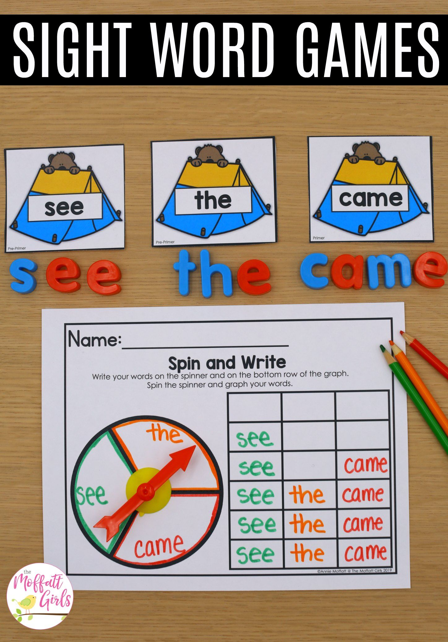Sight Word Bundle 40 Themes With Images