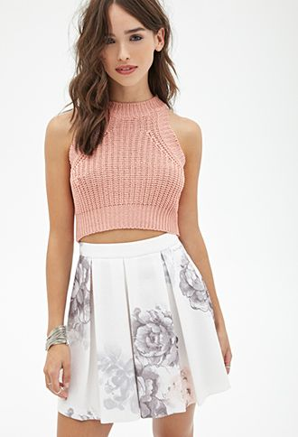 Pleated Floral Skirt | FOREVER21 - 2000137233