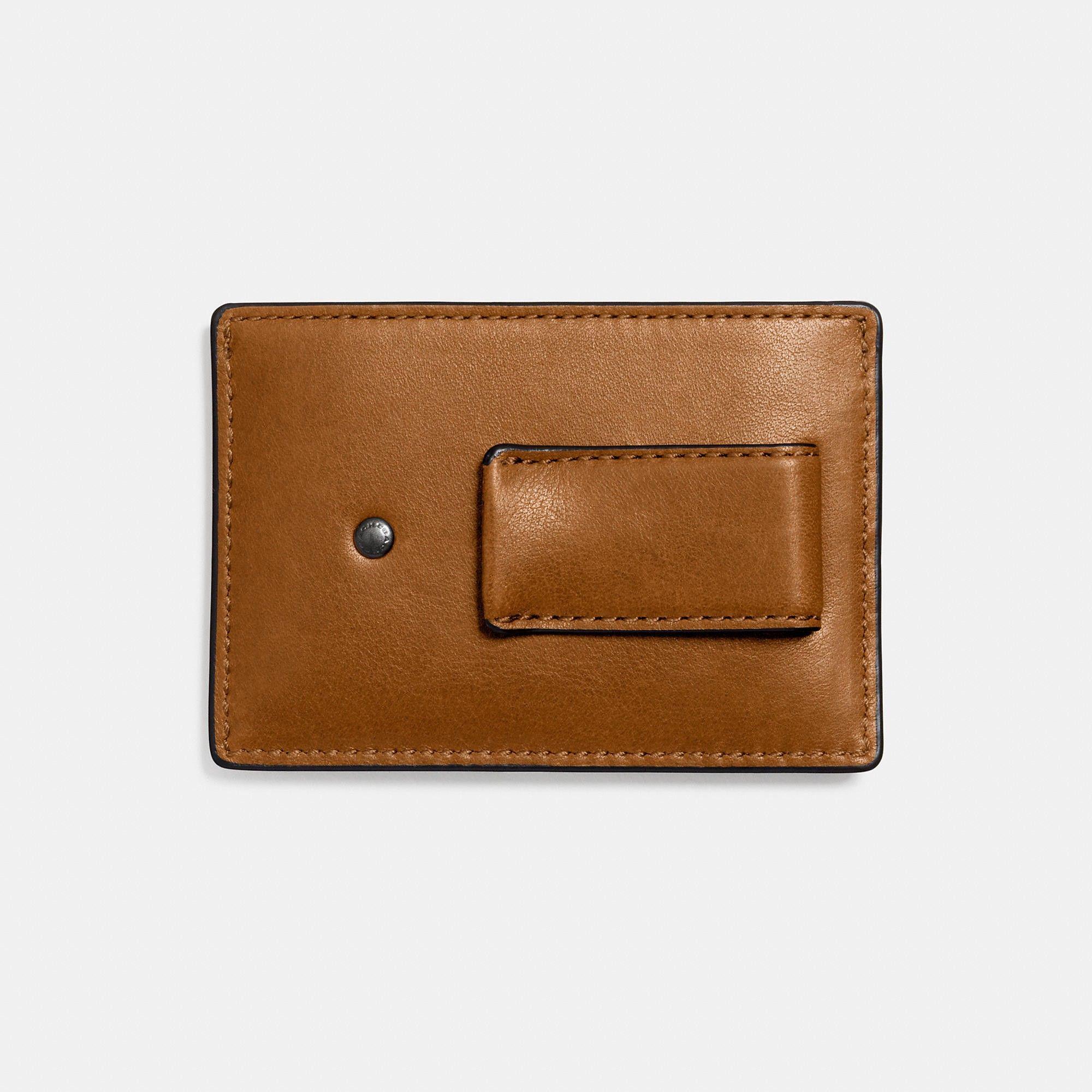 COACH MONEY clip card case in sport calf leather. #coach #all ...