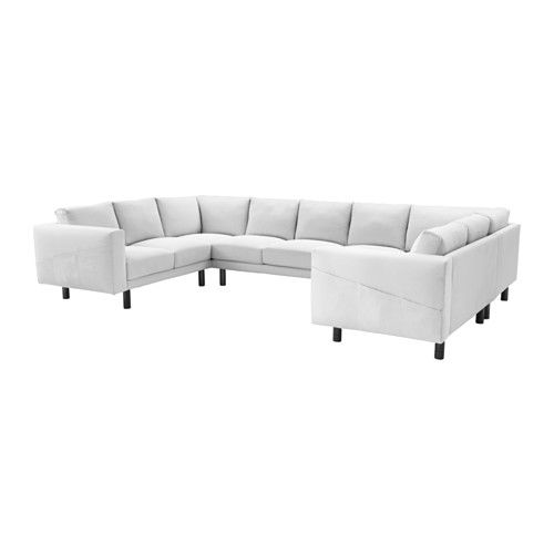 NORSBORG 9 seat sofa U shaped Finnsta white gray Finnsta white
