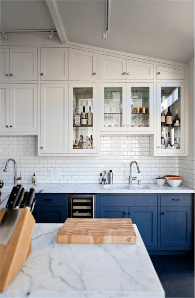 Get The Look: Blue and White Kitchens #bluegreykitchens