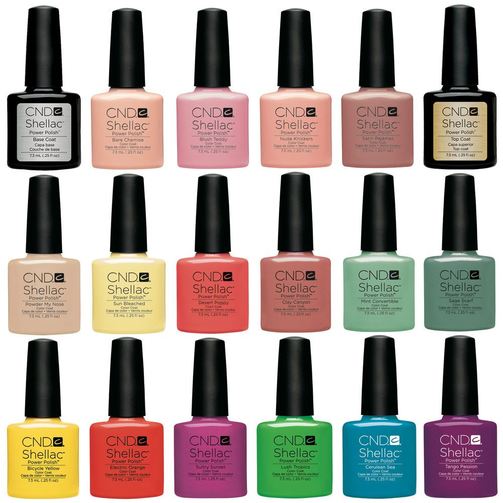 CND Shellac UV Nail Polish Choose from ANY Colours, Base or Top Coat ...