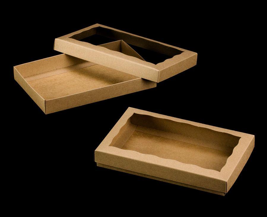 3535x3533 10 X 7 X 1 1 4 Brown Brown Two Piece Simplex Box Set With Window Cookie Box Brown Two Piece Cookie Packaging