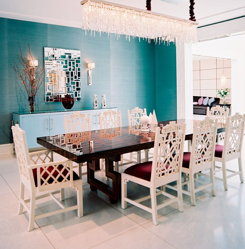 Showstopping White Chinese Chippendale Chairs Are A Striking Pleasing Chippendale Dining Room Set Design Inspiration