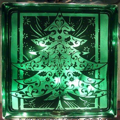 Glass block, made by Vinyl Bugz, using my Flourish Tree File. You can find more of her work on her facebook fan page!