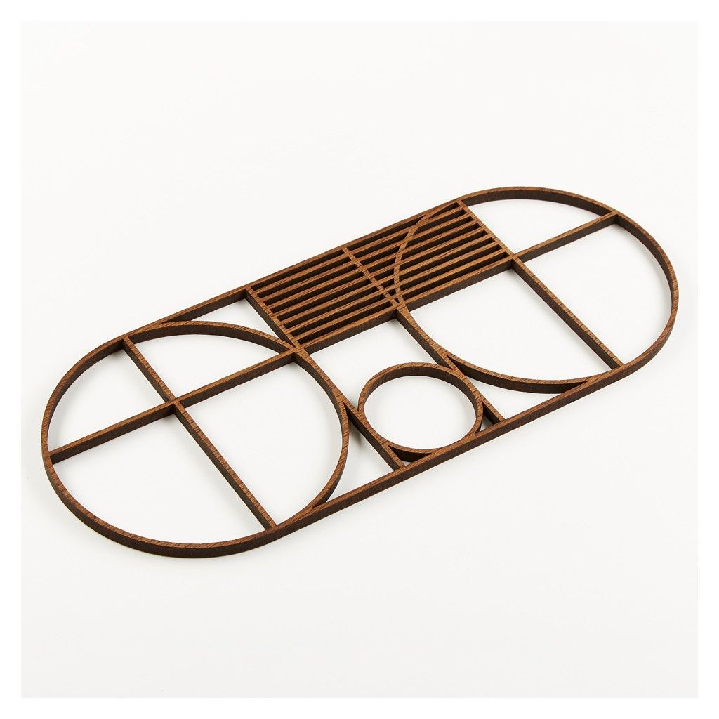 Bauhaus Kitchen Design: Outline Trivet Oval - Kitchen & Dining