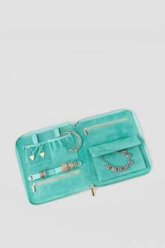 Mint and Gold Pretty Little Things Travel Jewelry Book