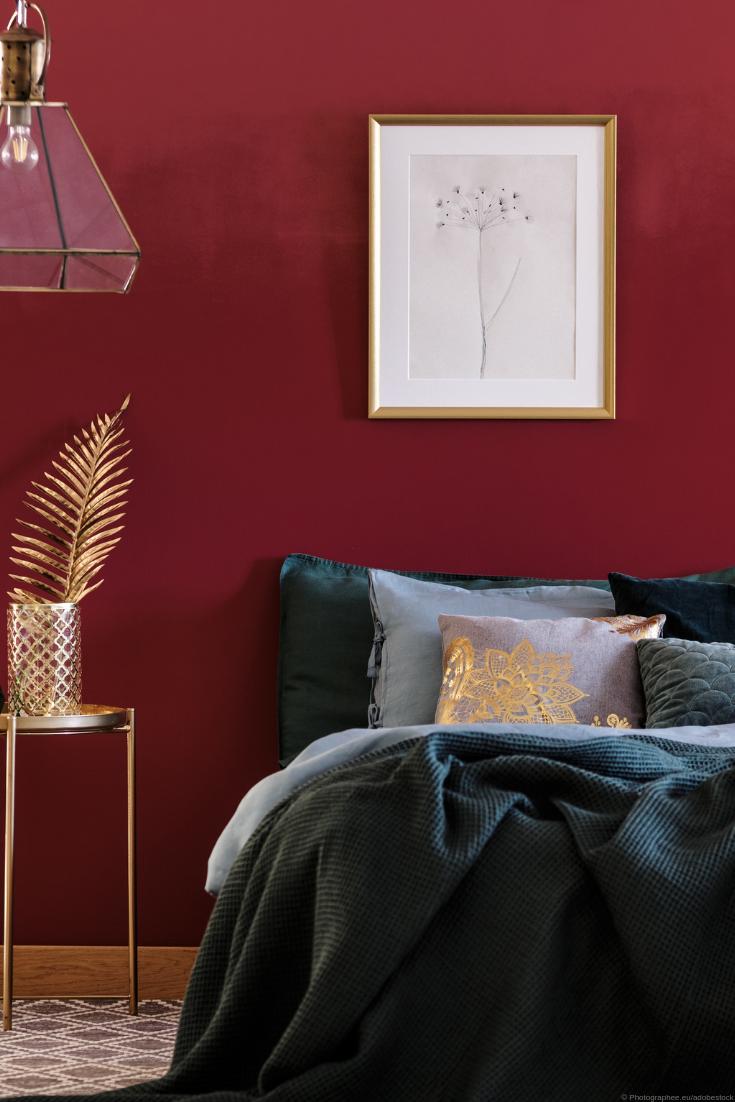 Wandfarben in Bordeaux & Weinrot von Kolorat I Farben online bestellen