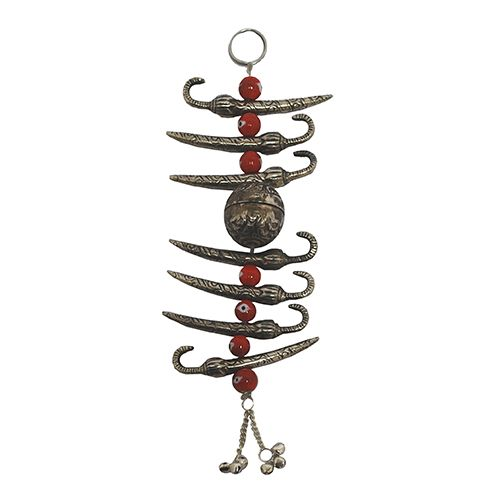 Kindwer Silver Evil Eye Warder Metal and Colored Beads Hanging