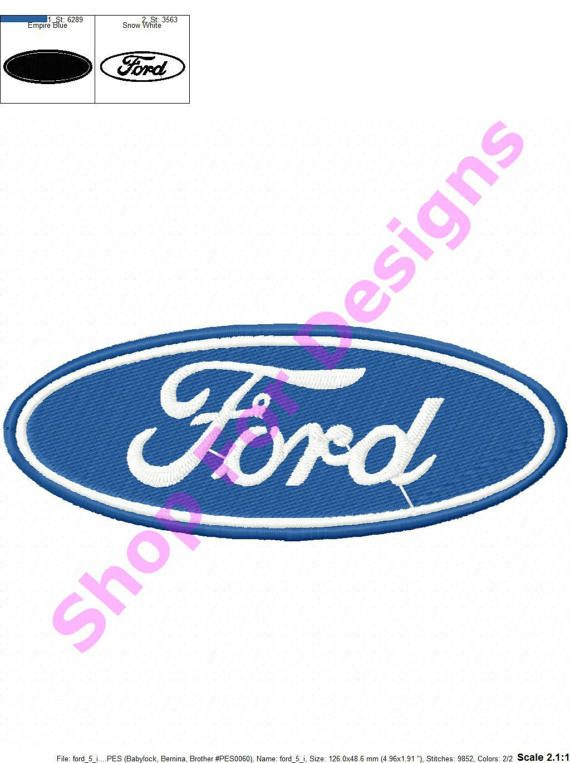 Ford Embroidery Design Ford Logo Ford Logo Embroidery Designs Ford