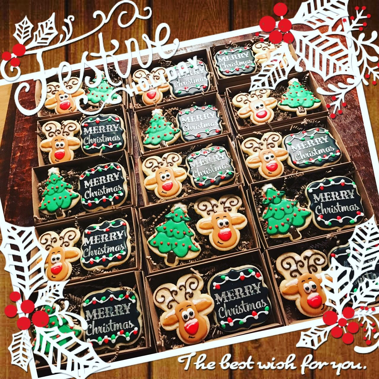 Cookie box sets christmas cookies decorated christmas