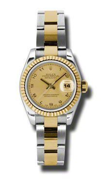 Rolex Datejust Lady Steel and Gold Fluted Bezel - Oyster #179173CHAO