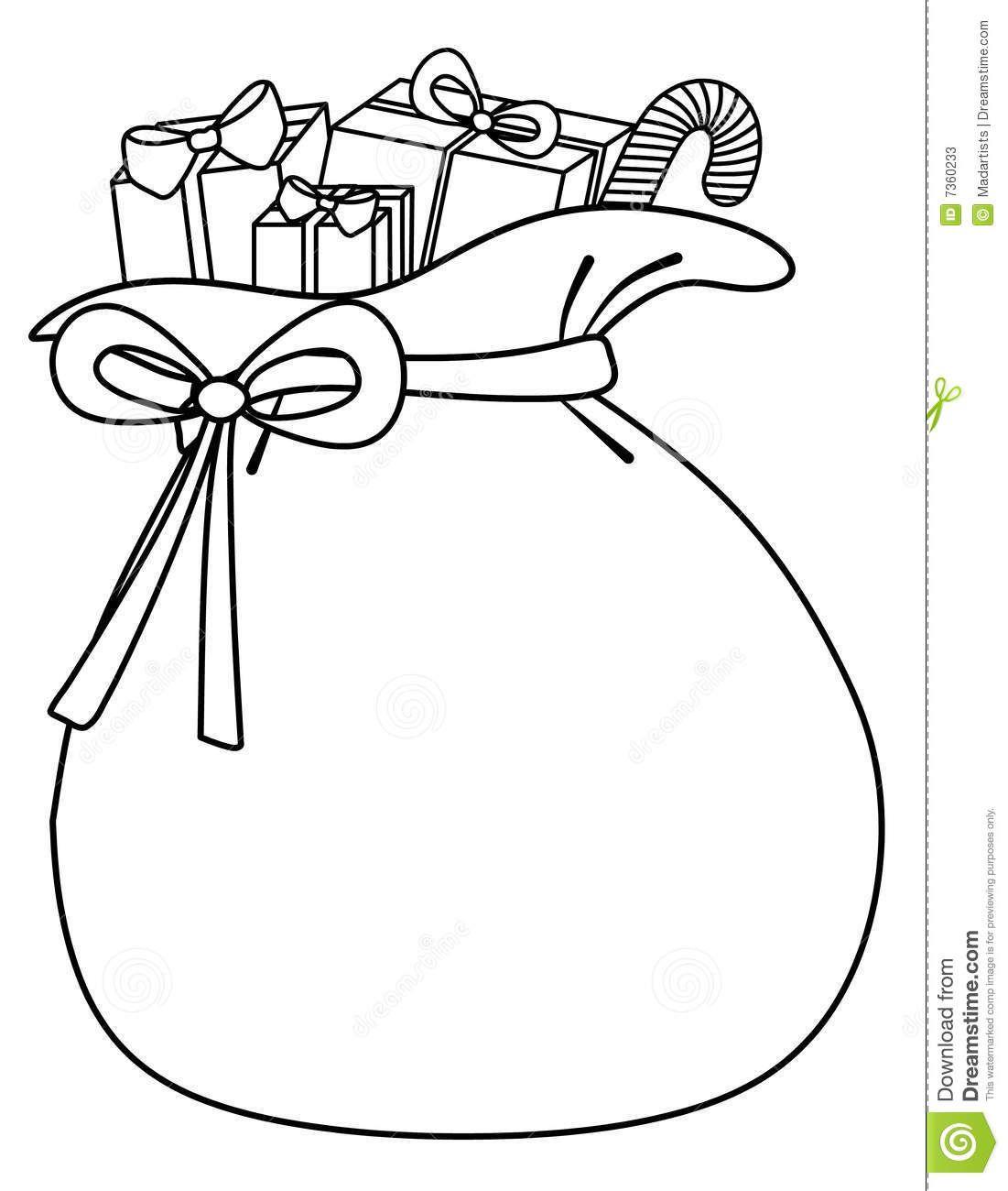 Santa Sack Of Toys Background Stock Photos