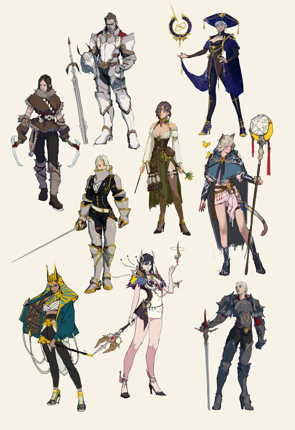 ArtStation Rough Sketches, MEPOPA (Sehun Jeong)