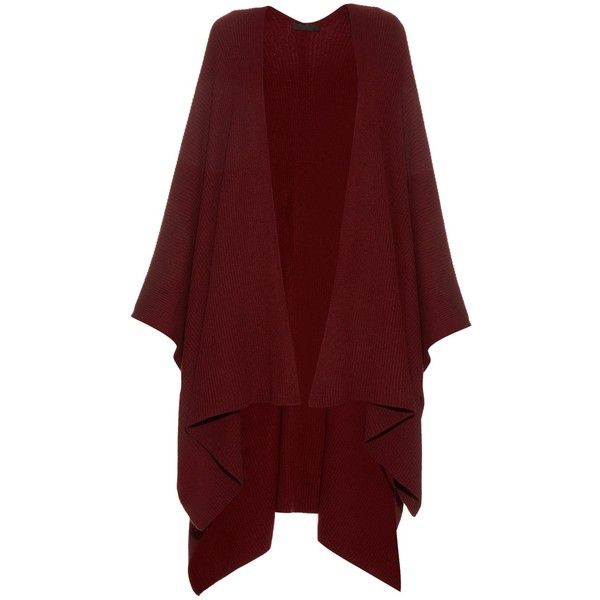 The Row Cappeto cashmere cape (21 775 SEK) ❤ liked on Polyvore featuring outerwear, cape, sweaters, red cape, burgundy cape, red cape coat, cashmere cape and evening cape