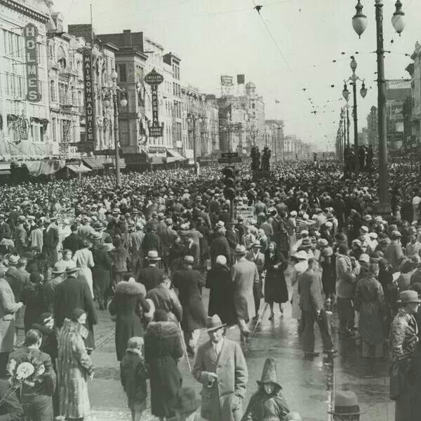 Mardi gras. 1933. What a difference