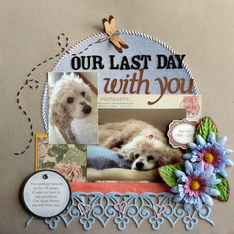 Scrapbook ideas goodbye - Scrapbooking Layouts Hunde Dog Scrapbook Ideas