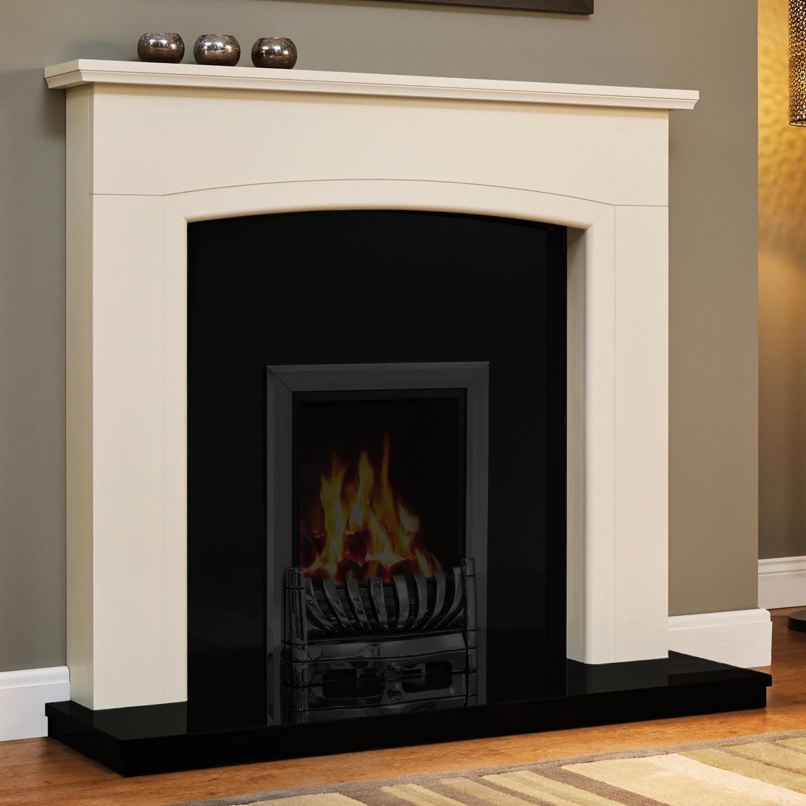 Be modern ellonby 50 soft white fire surround with