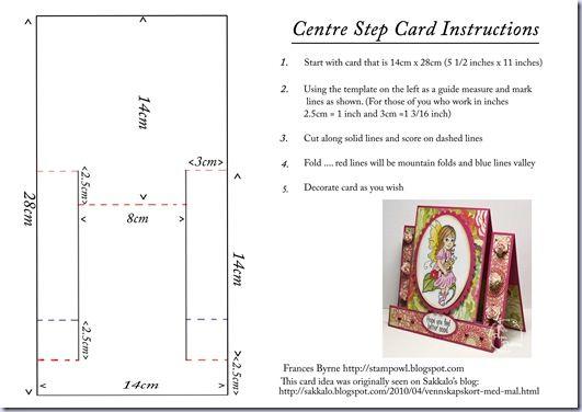 Center Step Card Instructions Step Cards Center Step Cards Fancy Fold Card Tutorials