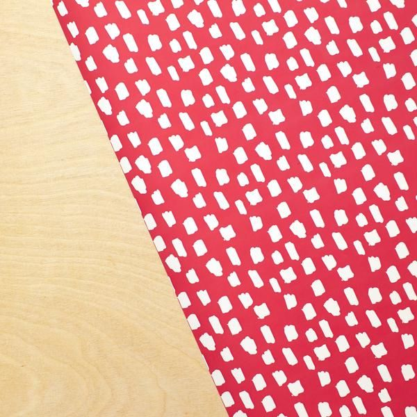 Handdrawn Spots - Red + White Stone Wrap