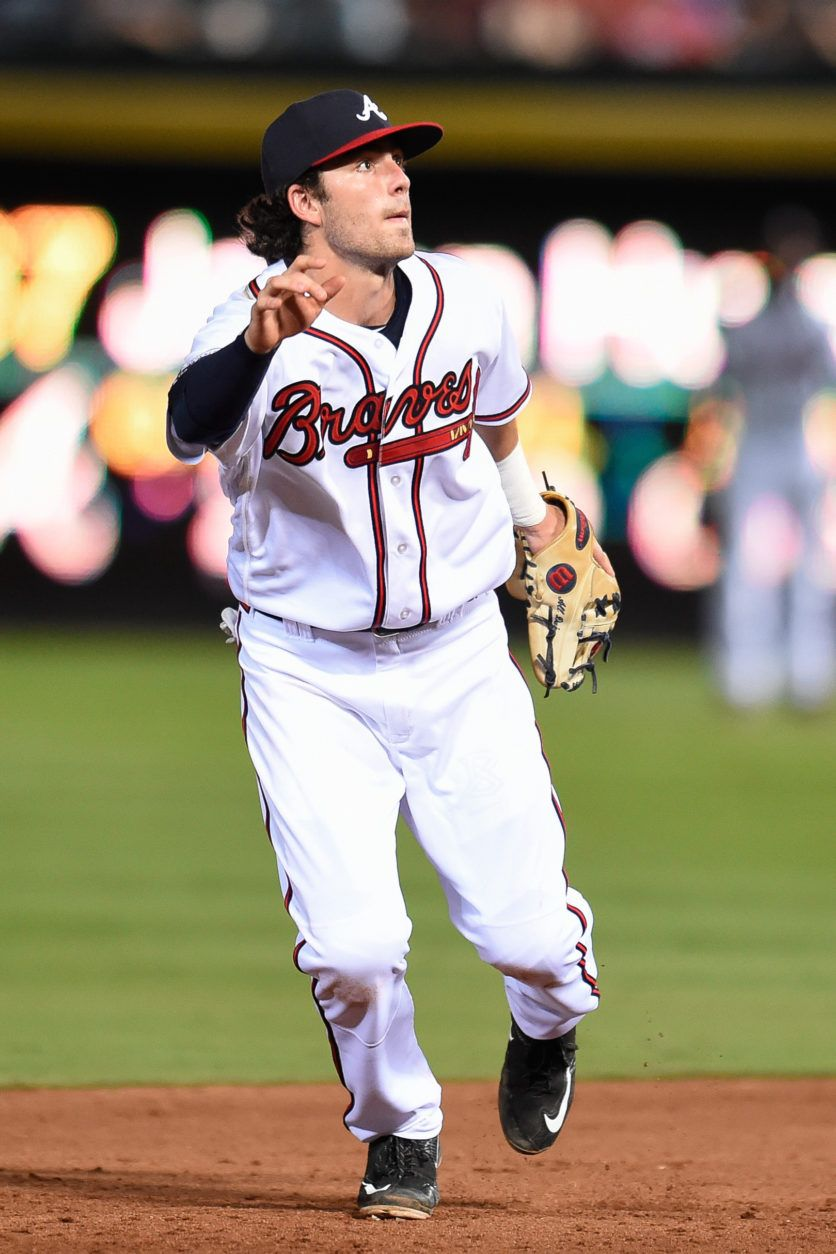Caption Aug 17 2016 Atlanta Ga Usa Atlanta Braves Shortstop Dansby Swanson 2 Runs After A Pop Up Dansby Swanson Atlanta Braves Atlanta Braves Baseball
