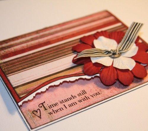 Romantic Greeting Card  Handmade Valentine  Cards  Pinterest