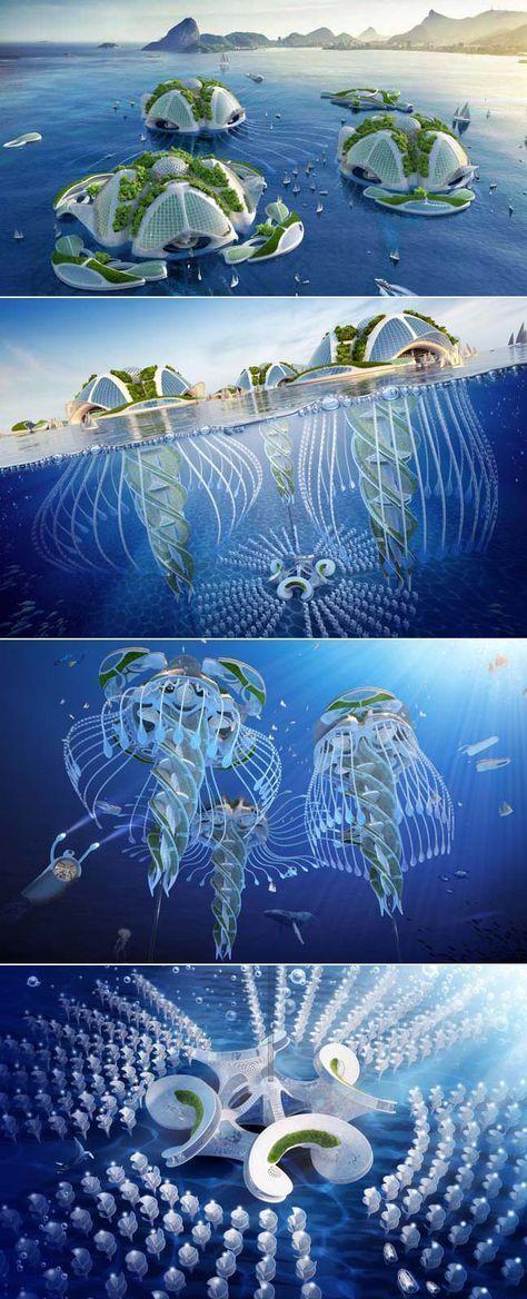 Aequorea: Amazing Futuristic Architecture Concept door Vincent Callebaut ...