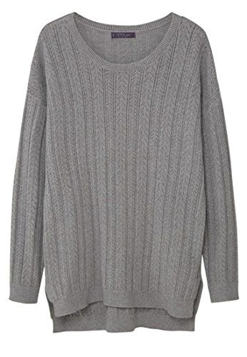 VIOLETA BY MANGO VIOLETA (Plus Size) - Open work-detail sweater - Size:M - Color:Medium Heather Grey Textured fabric, openwork design, round neck, long sleeve, side slit hem, cable knit finish (Barcode EAN = 8433885365421). http://www.comparestoreprices.co.uk/december-2016-5/violeta-by-mango-violeta-plus-size--open-work-detail-sweater--sizem--colormedium-heather-grey.asp