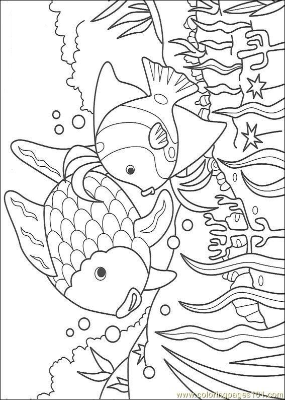 Coloring Pages Rainbow Fish001 22 Cartoons Fish