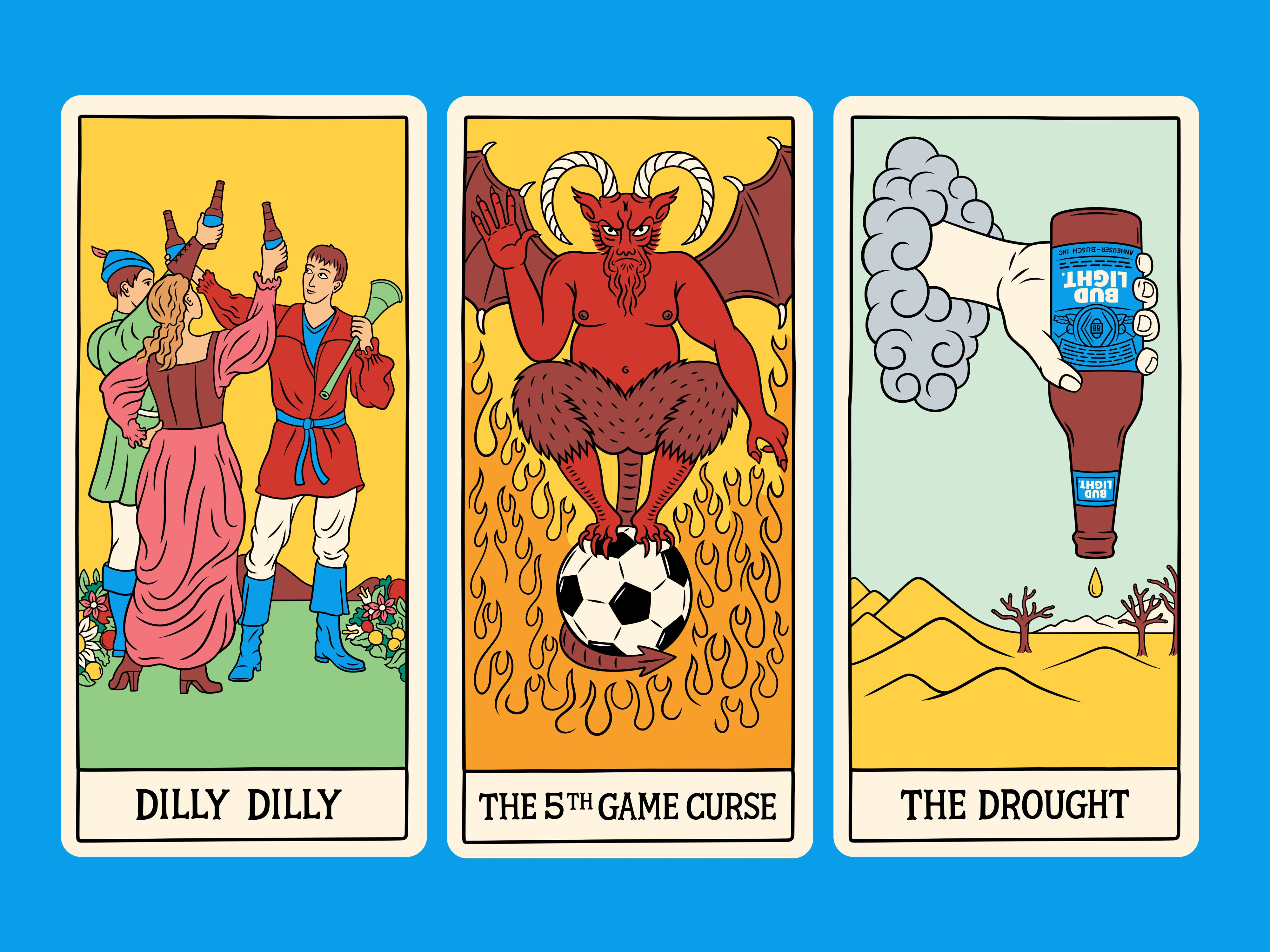 Bud Light Tarot Cards #illustration #illustrator #bright