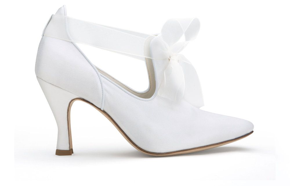 Devon White The First Comfortable High Heeled Wedding Shoes With Customizable Arch
