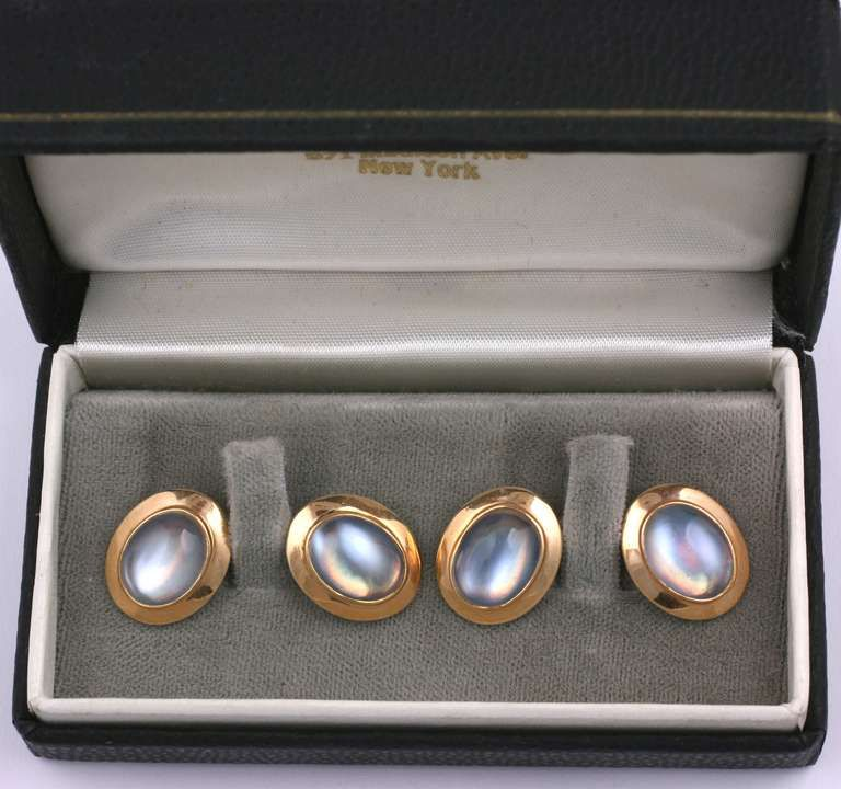 Antique Moonstone Cufflinks   From a unique collection of vintage cufflinks at https://www.1stdibs.com/jewelry/cufflinks/cufflinks/