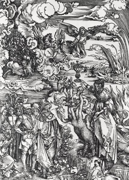 The Beast With Two Horns Like A Lamb by Albrecht Durer