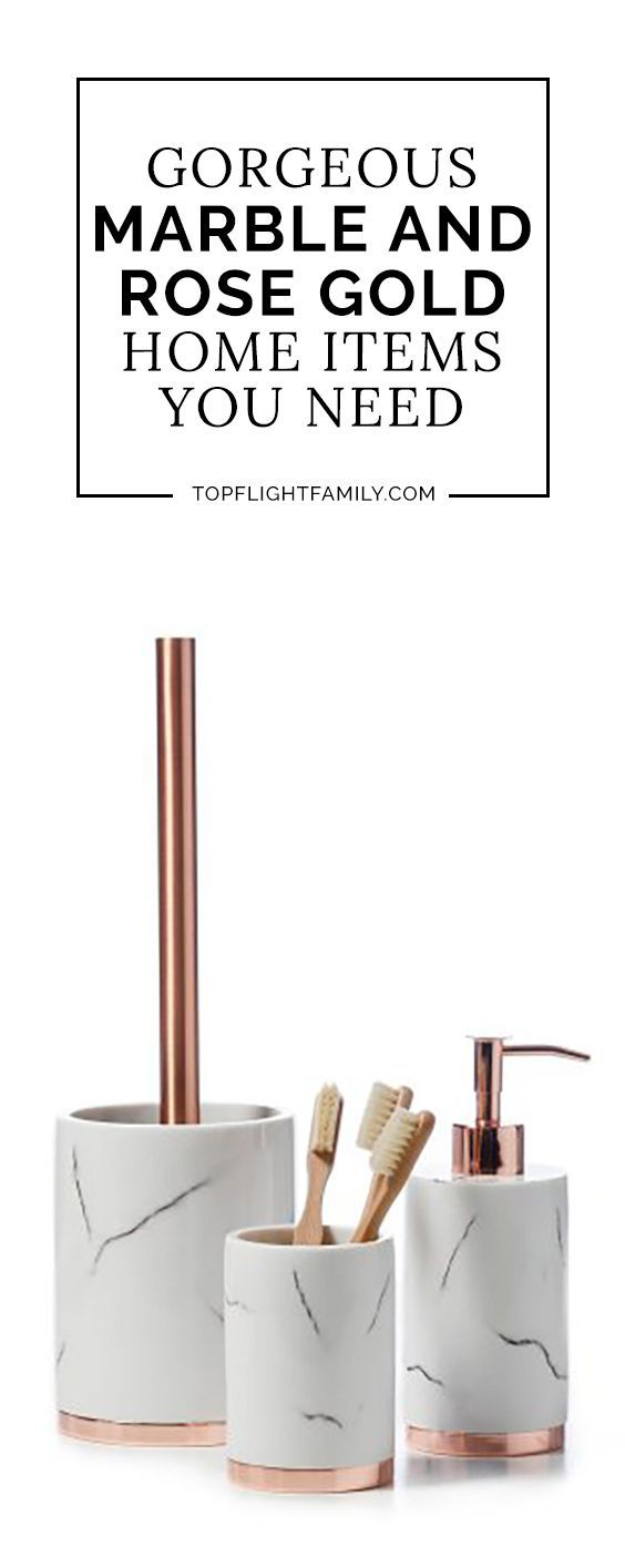 Marble and Rose Gold Items You Need for Your Home  Bathroom Decor  Rose gold rooms Rose gold