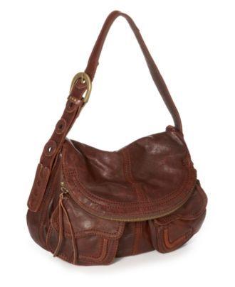 Lucky Brand Handbag Foldover Pocket Leather Bag Handbags Accessories Macy S